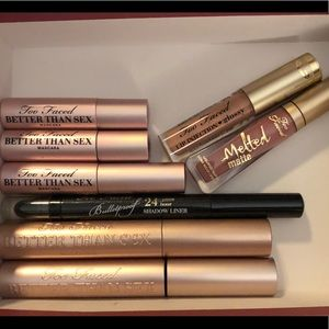 Too Faced Better Than Sex Mascaras,Liner &Lips NEW